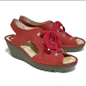 FLy London YLFA Lace Up Leather Sandals - Women's